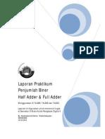 Laporan Praktikum Half&Fulladder