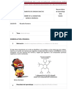 Normas de Nomenclatura Organica Ricardo Romero