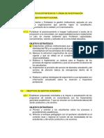 Objetivos de Gestion Institucional