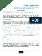Transparence 2018 Design Brief Transparence 2018