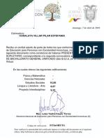 Certificado de Presentacion a Los Examenes