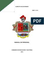 Ejército Ecuatoriano - MCP-13-16 - MANUAL DE PERSONAL.pdf