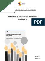 Informe CIS 2016 n. 3 Tecnologia - Uso Del Celular - IsSN 2618-2173