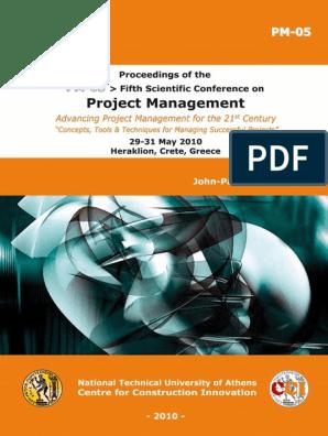 Cib18226 Pdf Project Management Risk Management