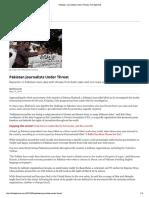 Pak Journalists Under Threats