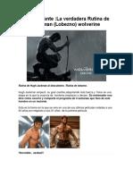 Rutina de entrenamiento Wolverine Lobezno
