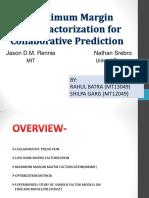 Fast Maximum Margin Matrix Factorization