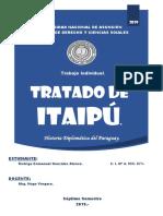 Trabajo. Tratado de Itaipú. Rodrigo González.