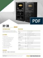 Pioneer Specificationsheet XY-3B
