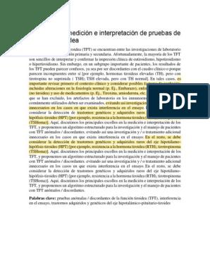 hipertiroxinemia disalbuminémica síntomas de diabetes