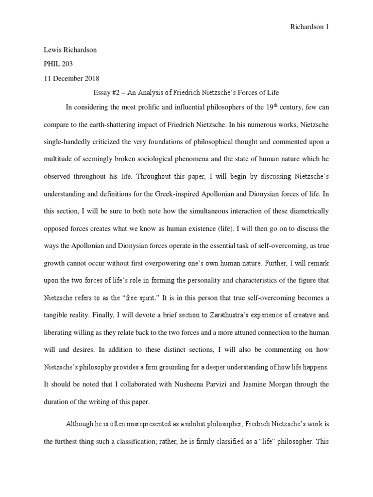Philosophy of life essay free proper thesis statements
