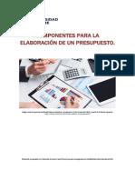 Unidad 2. Recurso 2. Lectura. Componentes para la elaboración de presupuesto. 2018.pdf