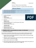Práctica 07. Reacciones reversibles. Introducción al equilibrio químico. Ley de Acción de Masas (1).docx