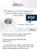 The Basics of Risk Assessment and Treatment According to ISO 27001 Presentation Deck