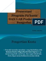 Presentasi Program P2 Kusta Puskesmas Bangodua