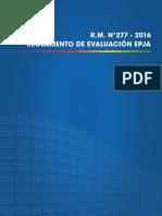2. Reglamento de Evaluación Epja Rm 277 2016