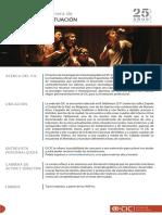 Ciclo Agosto - Carrera de Actuación y Dirección de Artes Escénicas (E)