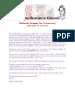 Daw Aung San Suu Kyi's NLD Official Boycott Statement Updated Version