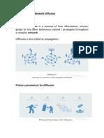 Network Diffusion