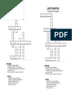 crucigrama 3º plantas