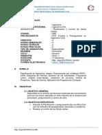 SÍLABO 2019-I PLANIFICACION Y CONTROL DE OBRAS CIVILES.docx