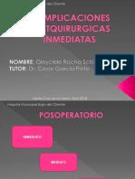Complicaciones post quirurgicas