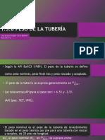 1.3.8 Peso de La Tubería (Carla Chorolque b)