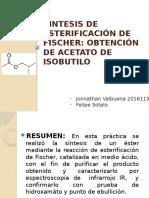 Sintesis de Esterificación de Fischer Presentacion