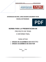 Caratula Presentacion de Proyecto Tesis Unjbg