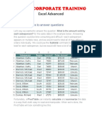 Excel Advanced Pivot Tables