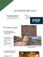 La Ciudad Colonial Del Cusco
