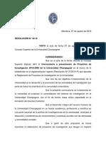 Reglamento Convocatoria de Proyectos de Investigación