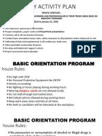 basic orientation plan