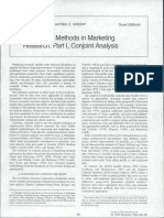 Psychometric Methods in Marketing Research- Part I- Conjoint Analysis