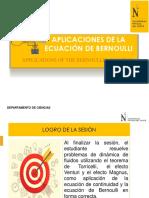09 Diapos Aplicaciones de La Ecuación de Bernoulli (1)