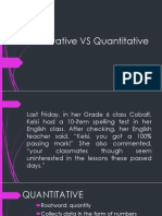 Qualitative VS Quantitative Researc