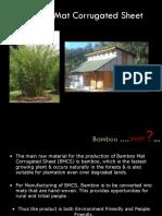 Bamboo Mat Corragated Sheet
