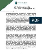Noah St John Afformations Elite Coaching Call 1