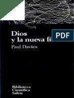 (Biblioteca científica Salvat #42) P. Davies - Dios y la nueva física-Salvat (1994).pdf