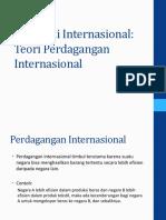 2. Teori Perdagangan Internasional - Klasik