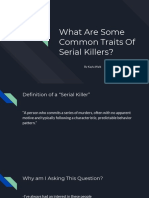 what are some common traits of serial killers  1