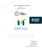 A project report on Marico