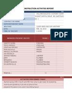 sample form for construction progress report