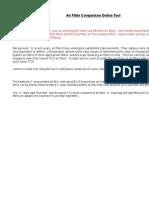 Air Filter Comparison Tool 4 0