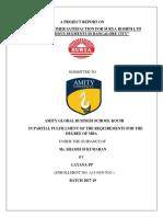 STUDY ON CUSTOMER SATISFACTION FOR SURYA ROSHNI LTD                        UNDER VARIOUS SEGMENTS IN BANGALORE CITY (1) (1).docx