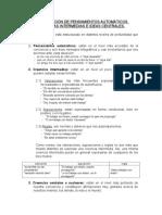 Identificación PANs y Creencias distorsionadas