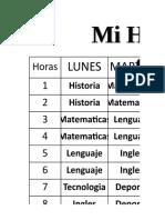Horario Clases