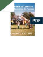 Boletim Da Comissão Catarinense de Folclore