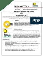 Solar Analytics Nise Pragya Solar 22nd 26thoct 2018