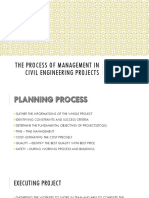 Planning process in Civil Engineering
